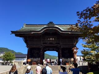 9月:善光寺