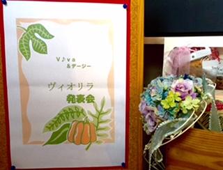 11月:ヴィオリラ発表会